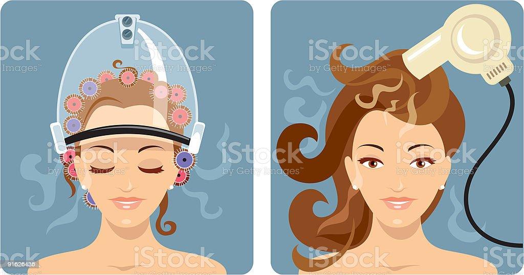 Beauty Treatment - Hair vector art illustration