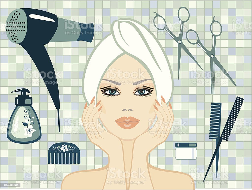 beauty royalty-free stock vector art