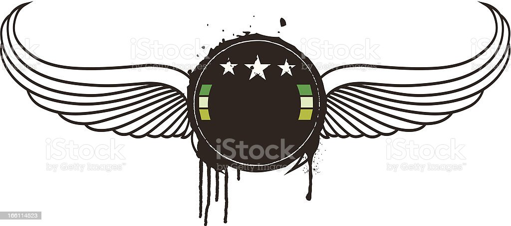 beauty vintage grunge shield small royalty-free stock vector art