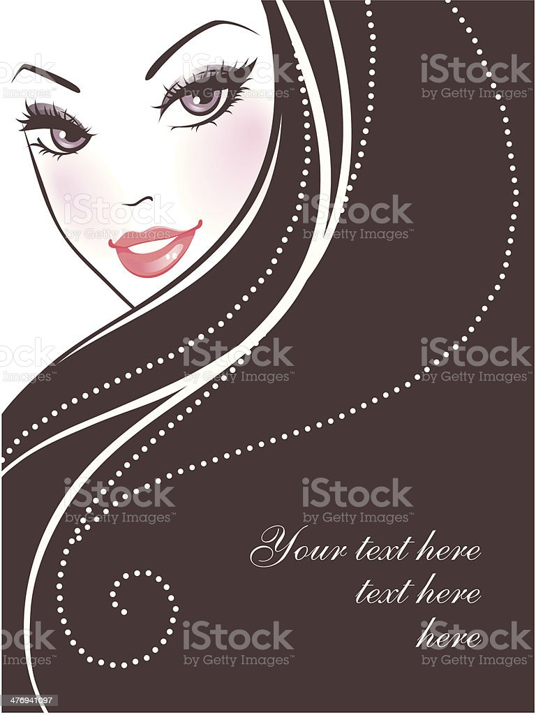 Beauty woman pic vector art illustration