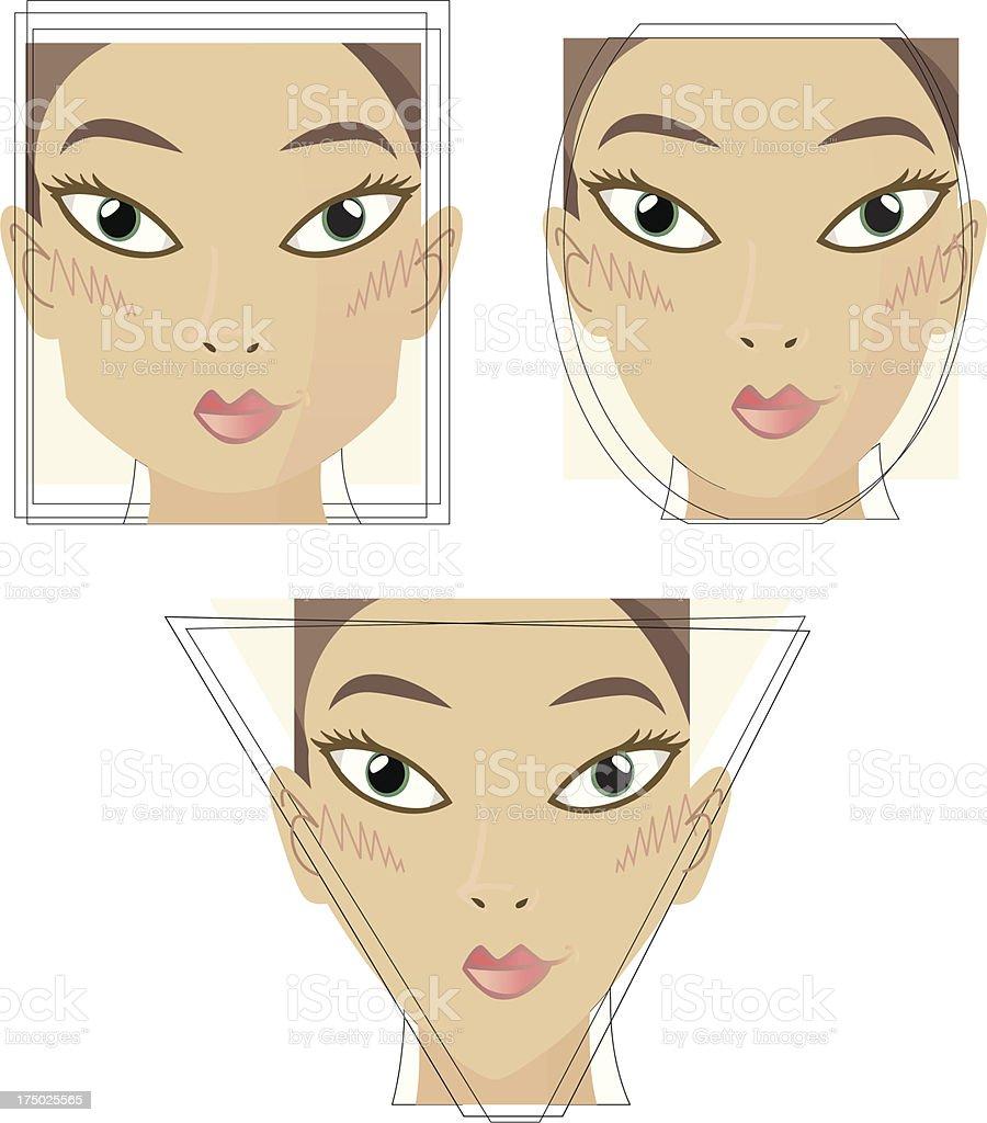 Beautyface / 3 Varios. vector art illustration