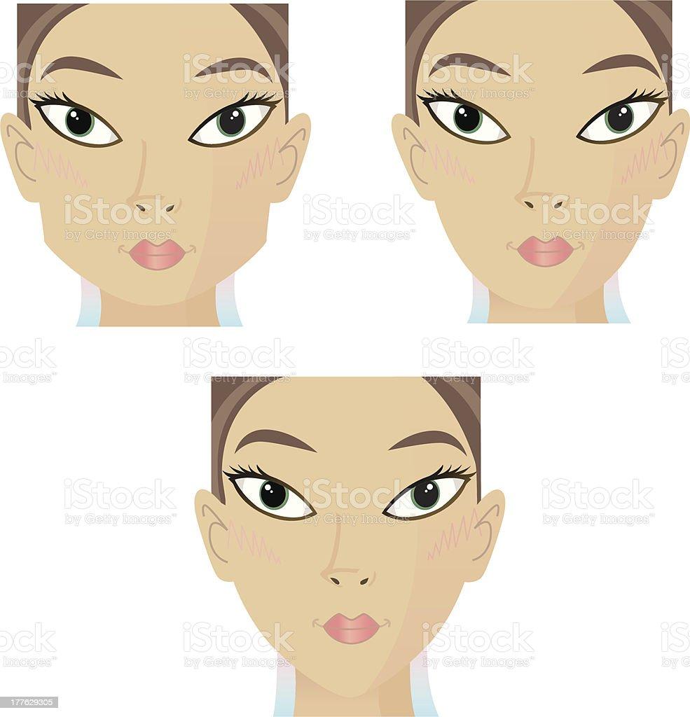 Beautyfaces 3 Varios vector art illustration