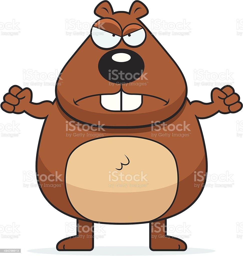 Beaver Angry vector art illustration