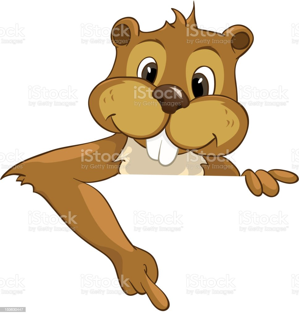 Beaver CREES royalty-free stock vector art
