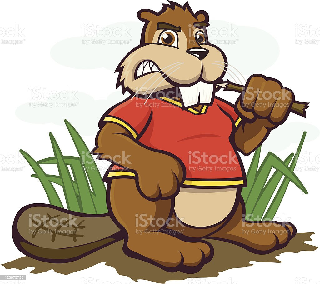 Beaver TIME! royalty-free stock vector art