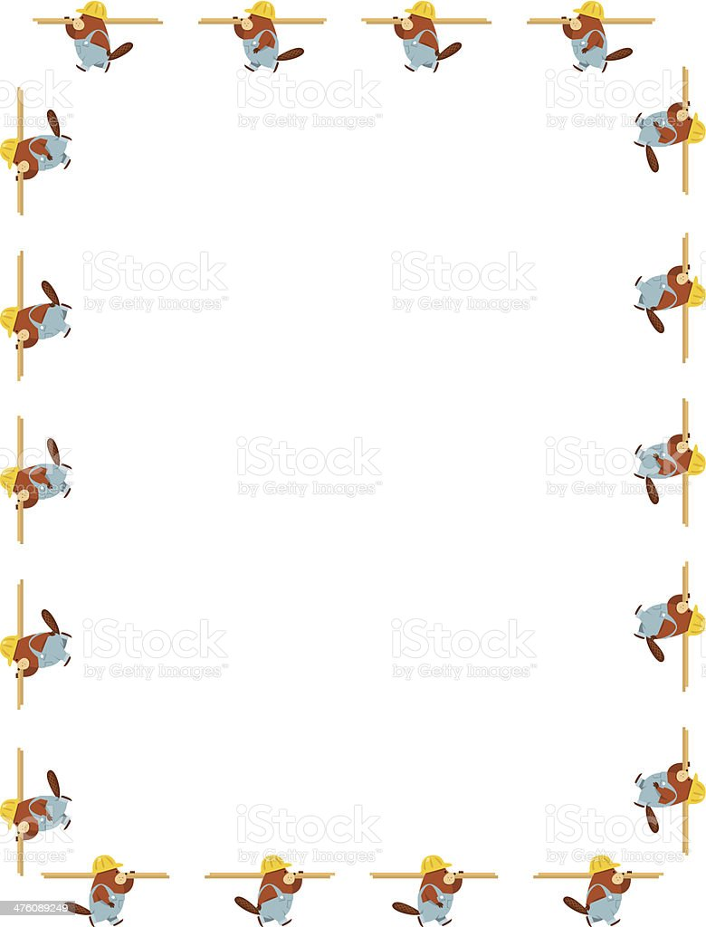 Beaver Workers Frame C royalty-free stock vector art