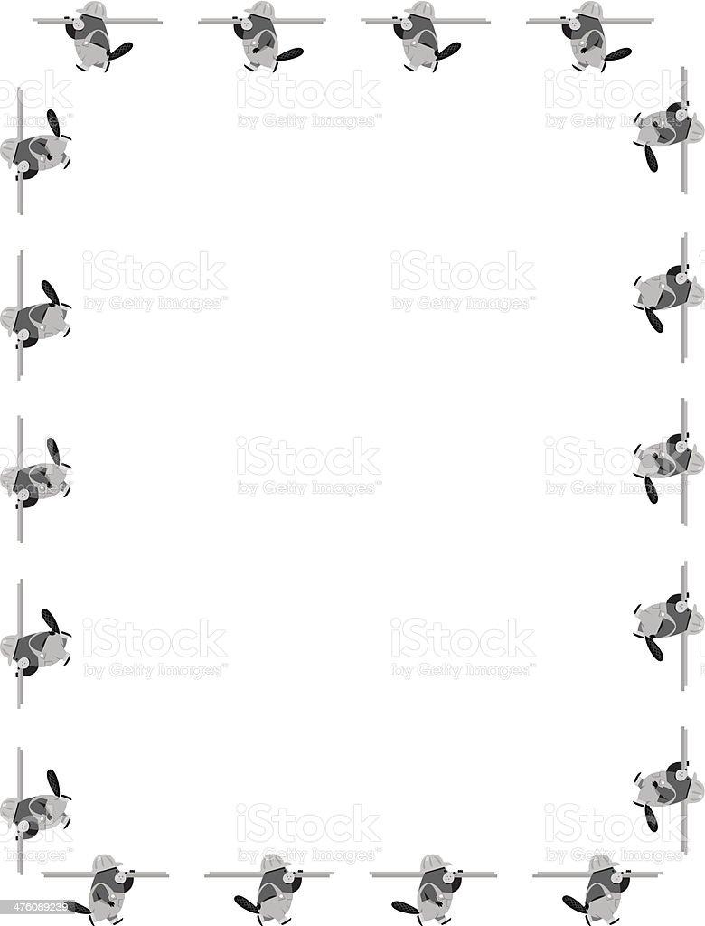 Beaver Workers Frame vector art illustration