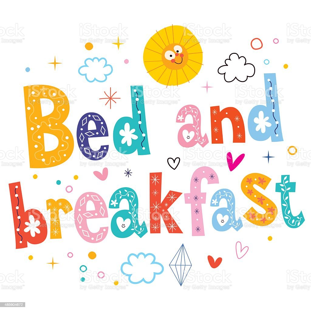 bed and breakfast royalty-free stock vector art