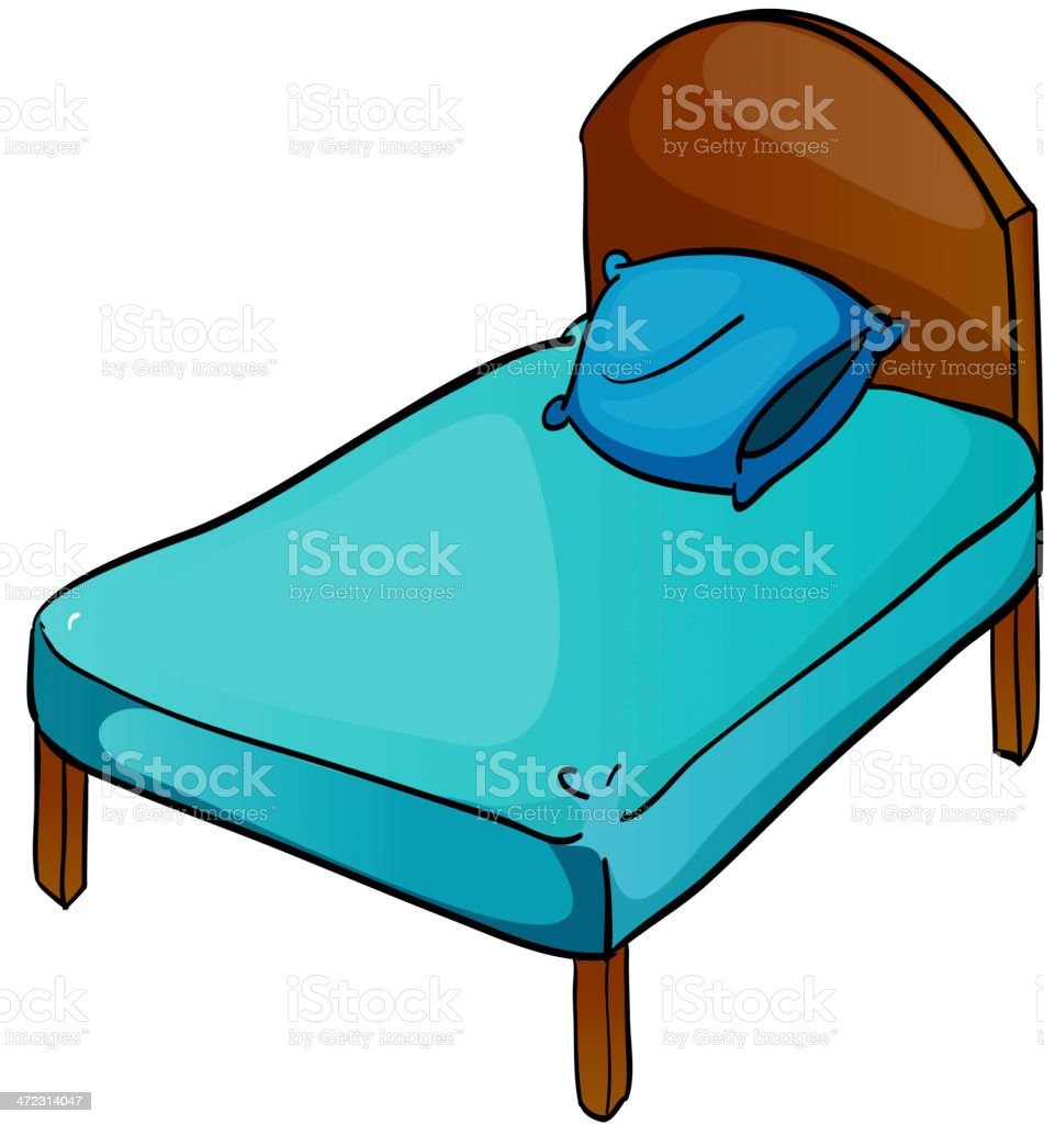 Bed and pillow royalty-free stock vector art