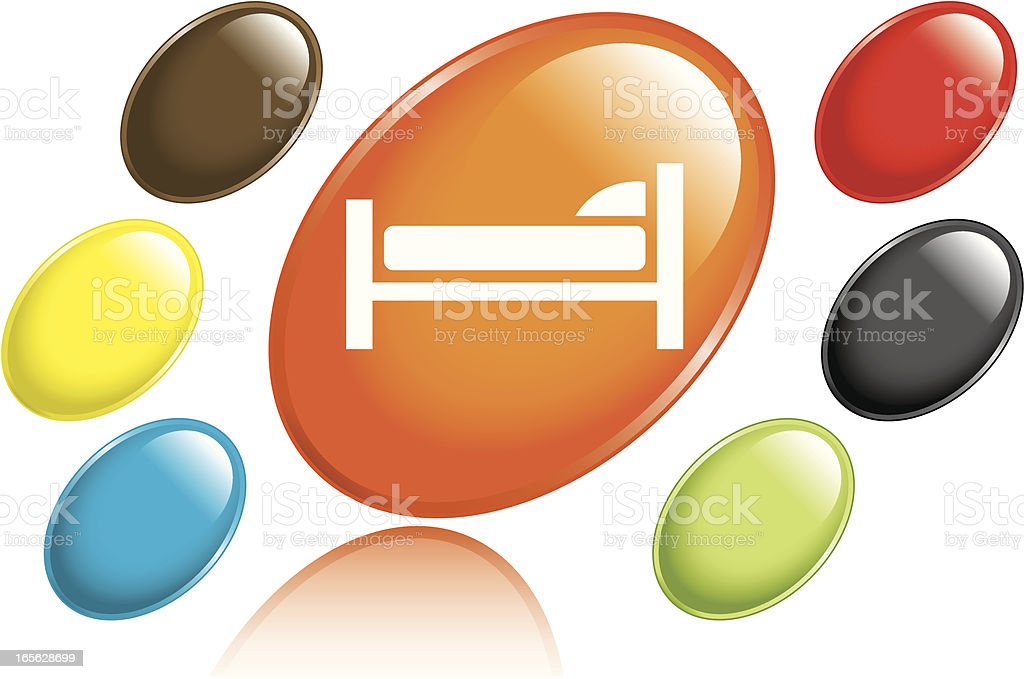 Bed Icon royalty-free stock vector art