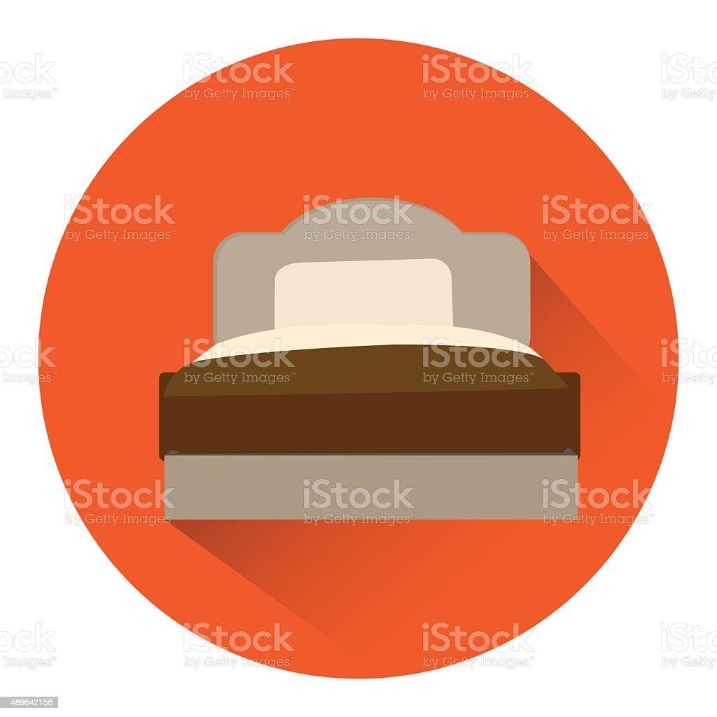 bed icon vector. vector art illustration