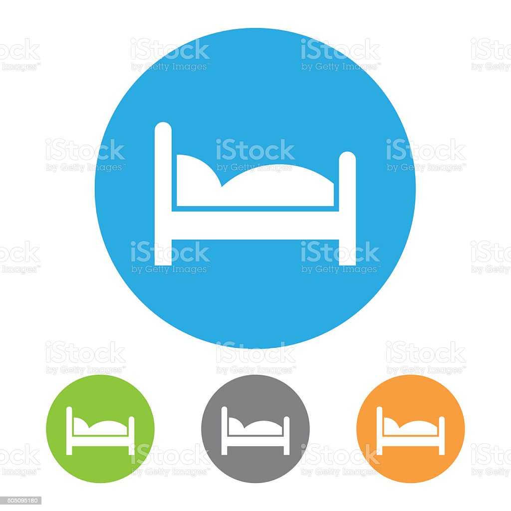 Bed Icon. Vector stock photo
