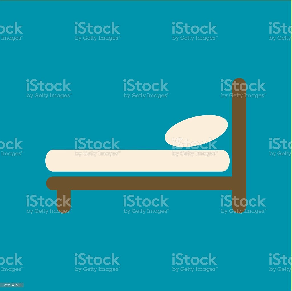 Bed vector icon vector art illustration