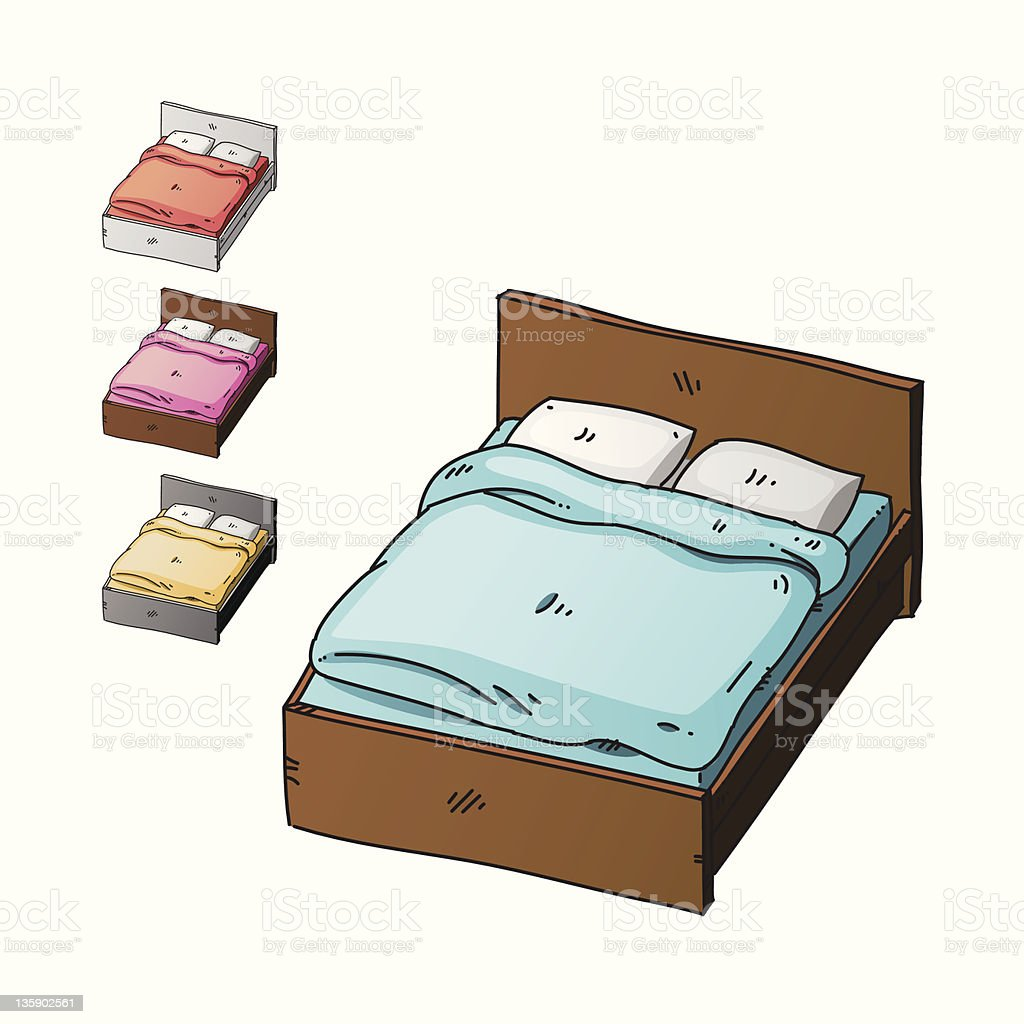 bed royalty-free stock photo