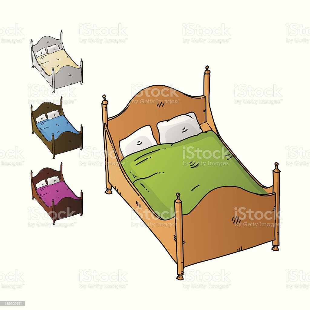 Bed royalty-free stock vector art