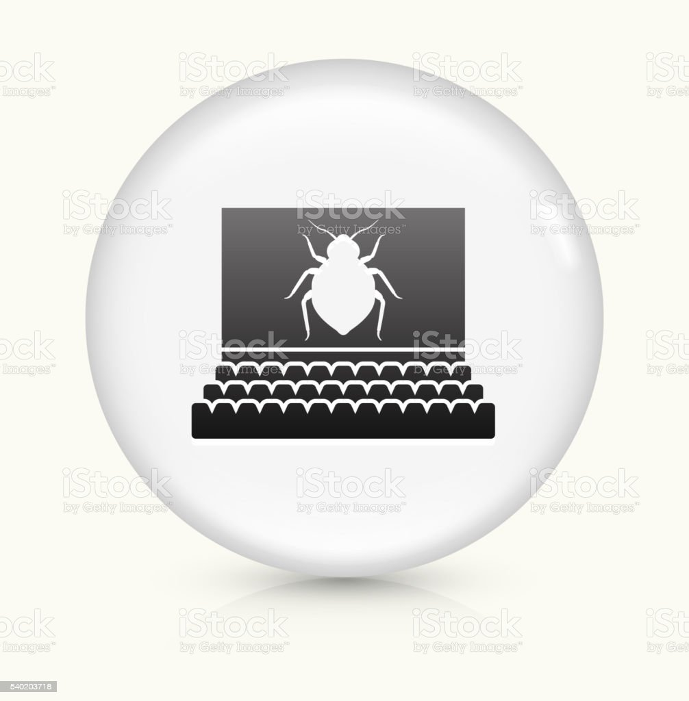 Bedbugs in Movie Theatre icon on white round vector button vector art illustration