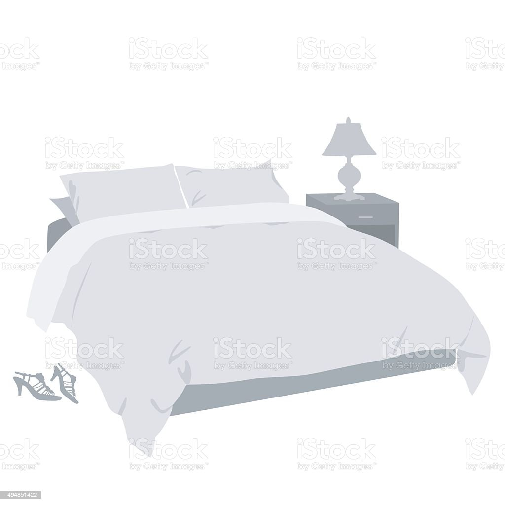 Bedroom Decor vector art illustration
