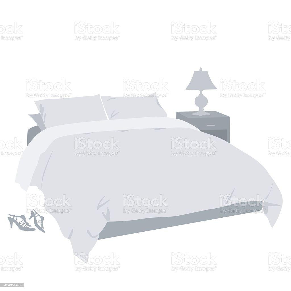 Bedroom Decor vector art illustration