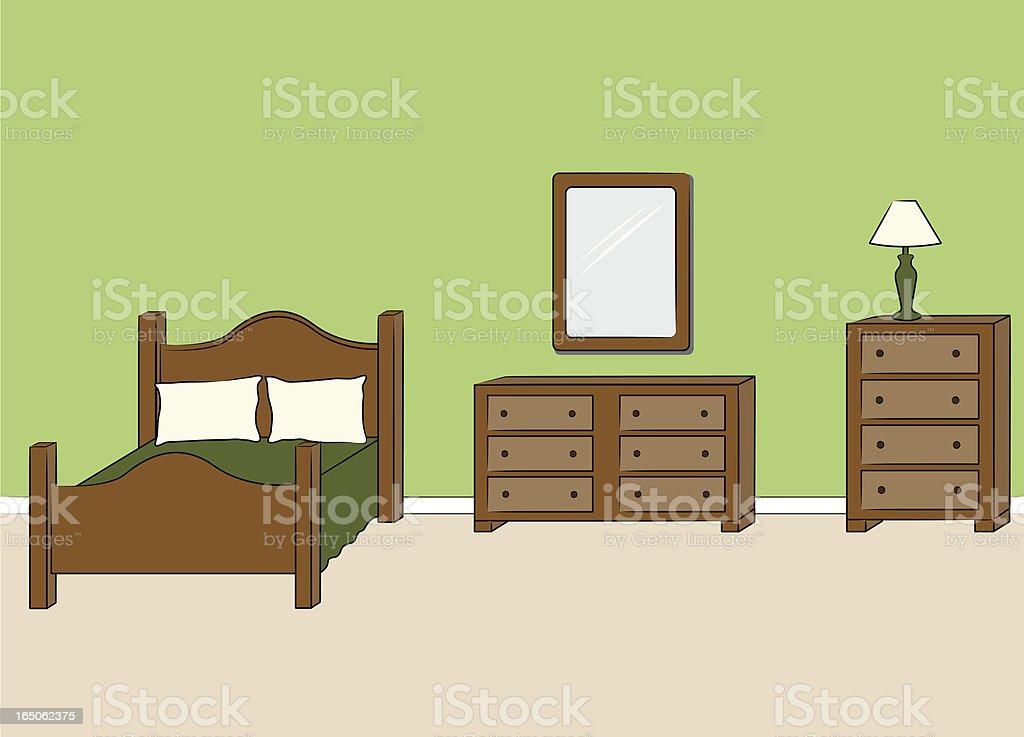 Bedroom Furniture vector art illustration