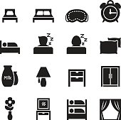 Bedroom icons set