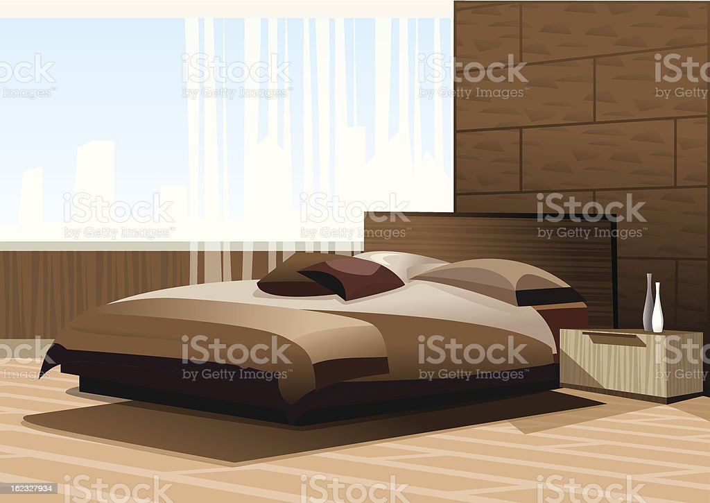 Bedroom interior royalty-free stock vector art