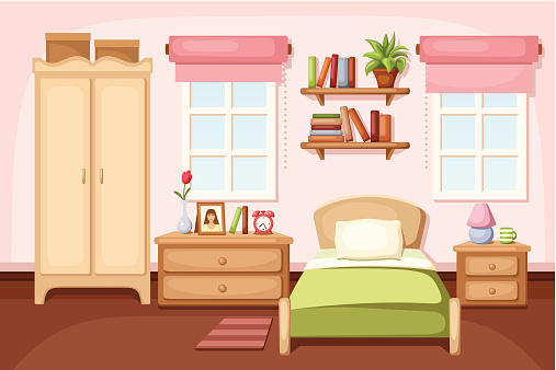 Bedroom Clip Art, Vector Images & Illustrations