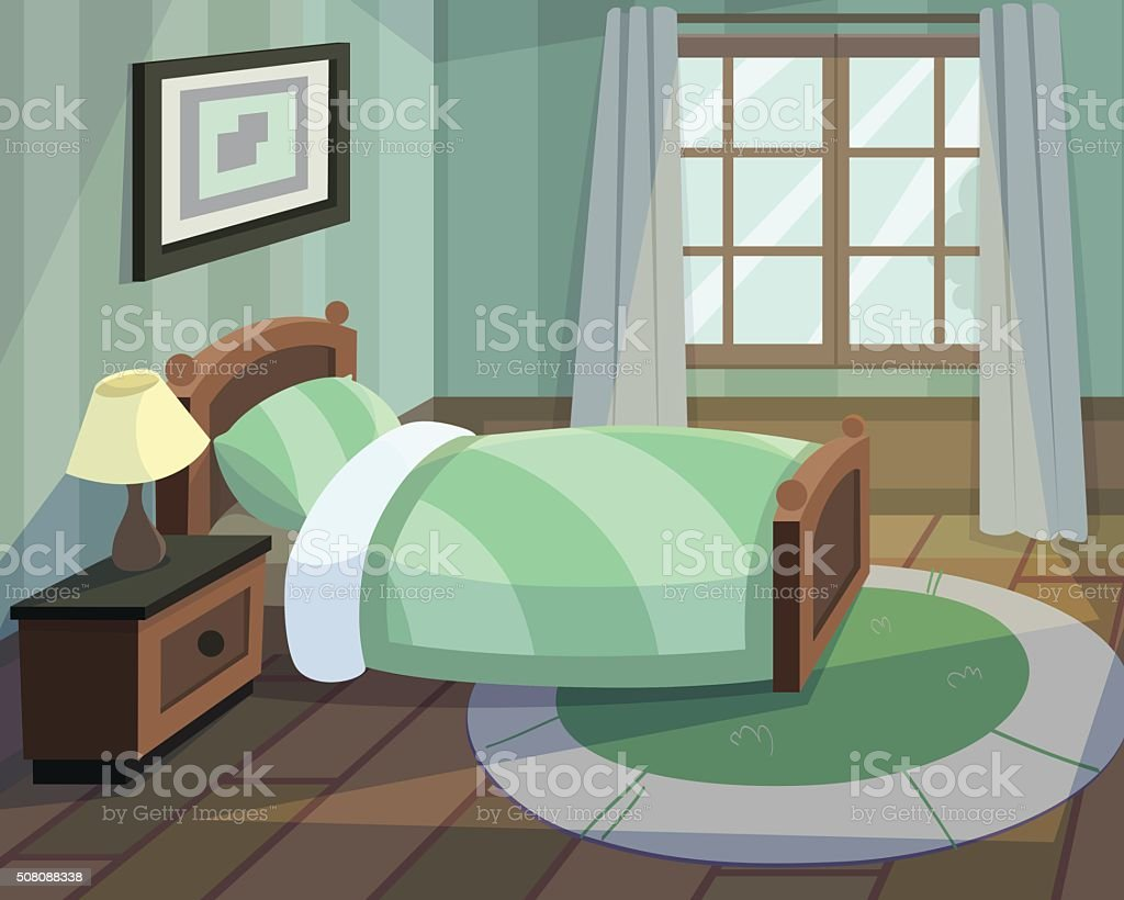 Bedroom vector art illustration