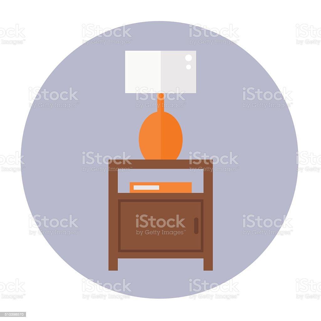 Bedside table. vector art illustration