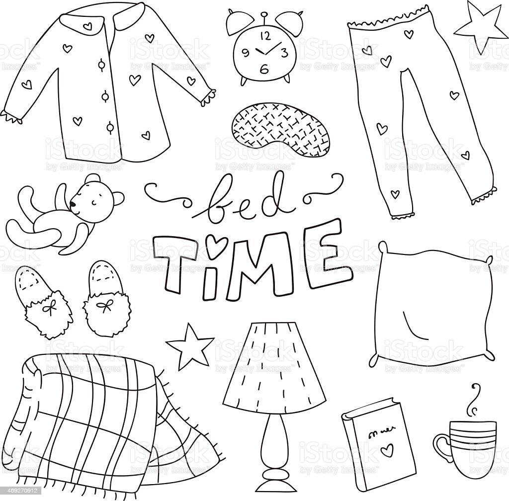 Bedtime vector art illustration