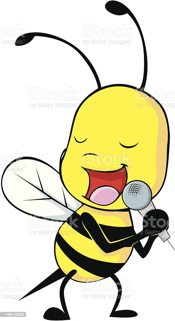 Bee a Singer vector art illustration