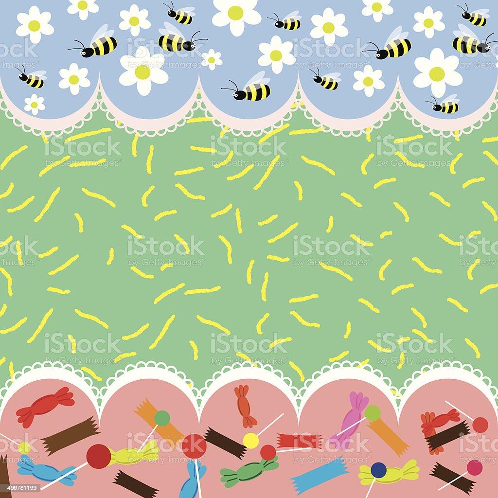 Bee background vector art illustration