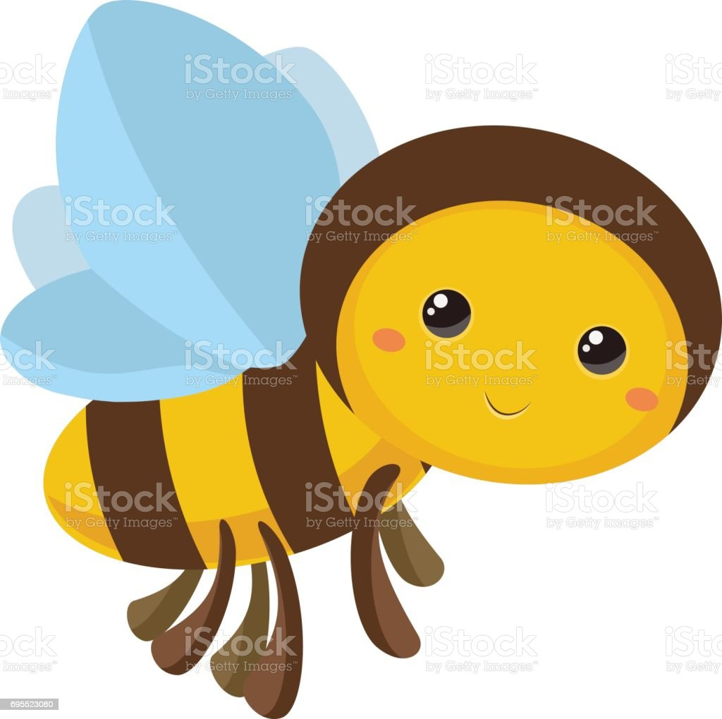 Bee - Cartoon style - Illustration vector art illustration