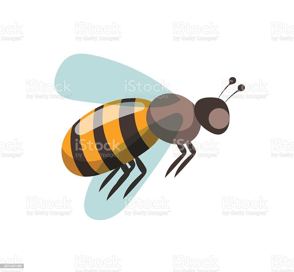 Bee cartoon style vector illustrations vector art illustration