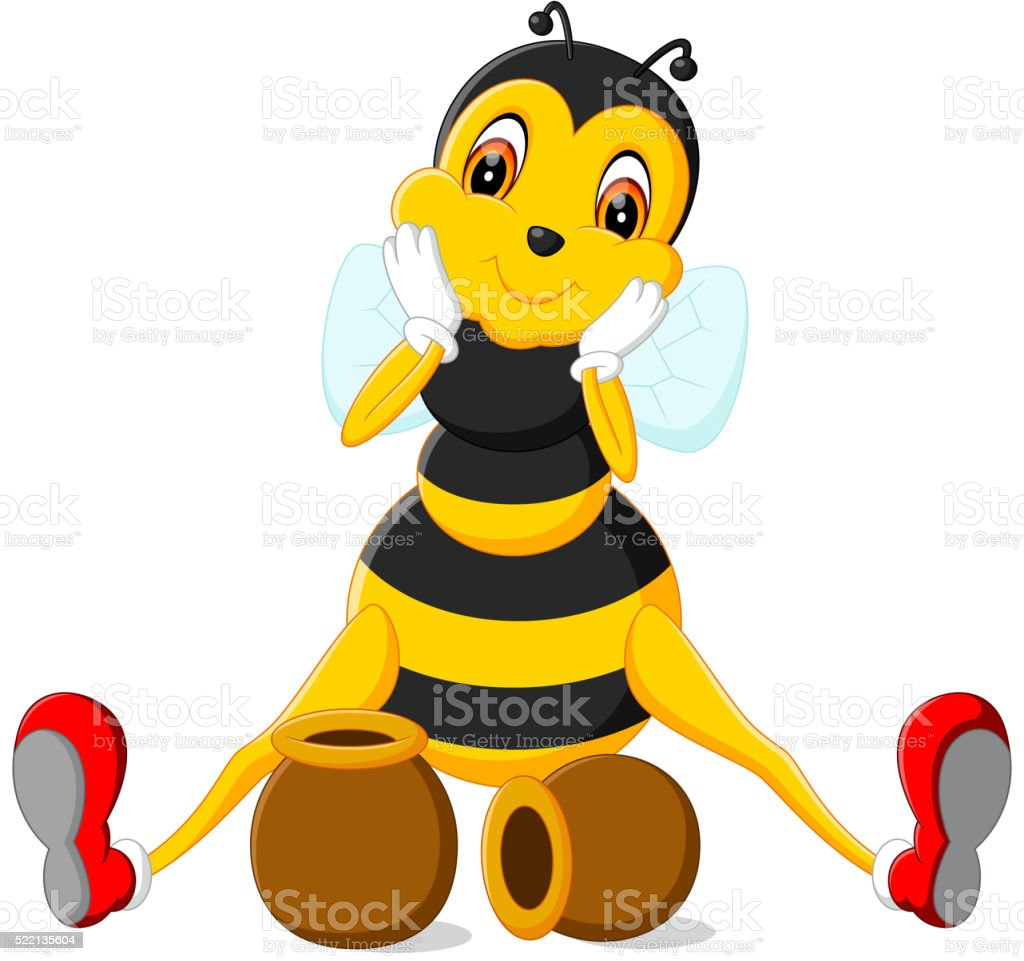 Bee cartoon vector art illustration