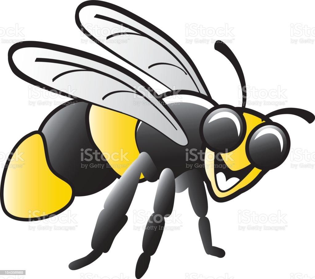 Bee full body vector art illustration