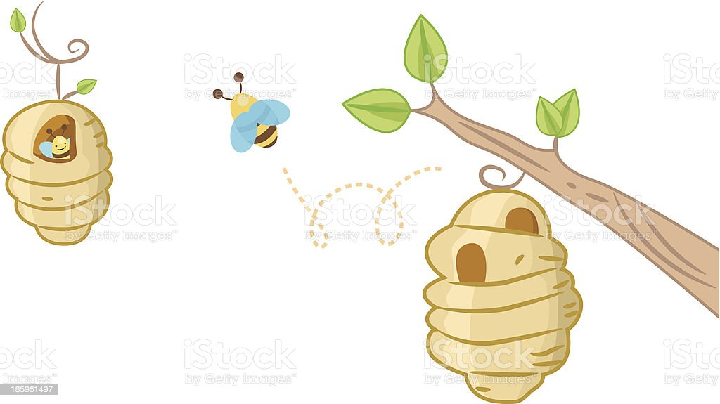 Bee Hive Background royalty-free stock vector art