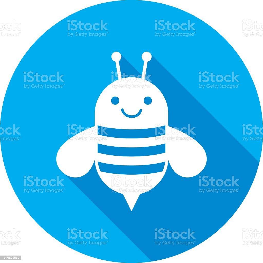 Bee Icon Silhouette vector art illustration