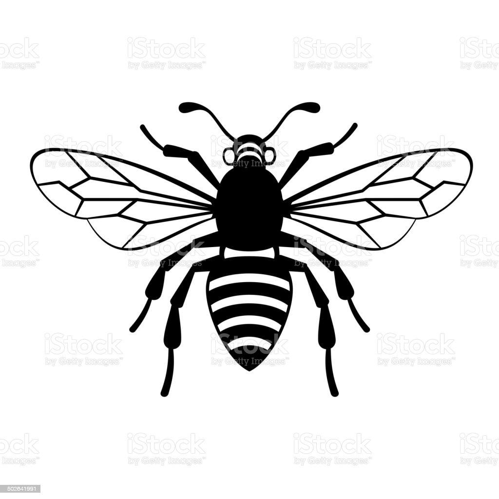 Bee Icon Vector vector art illustration