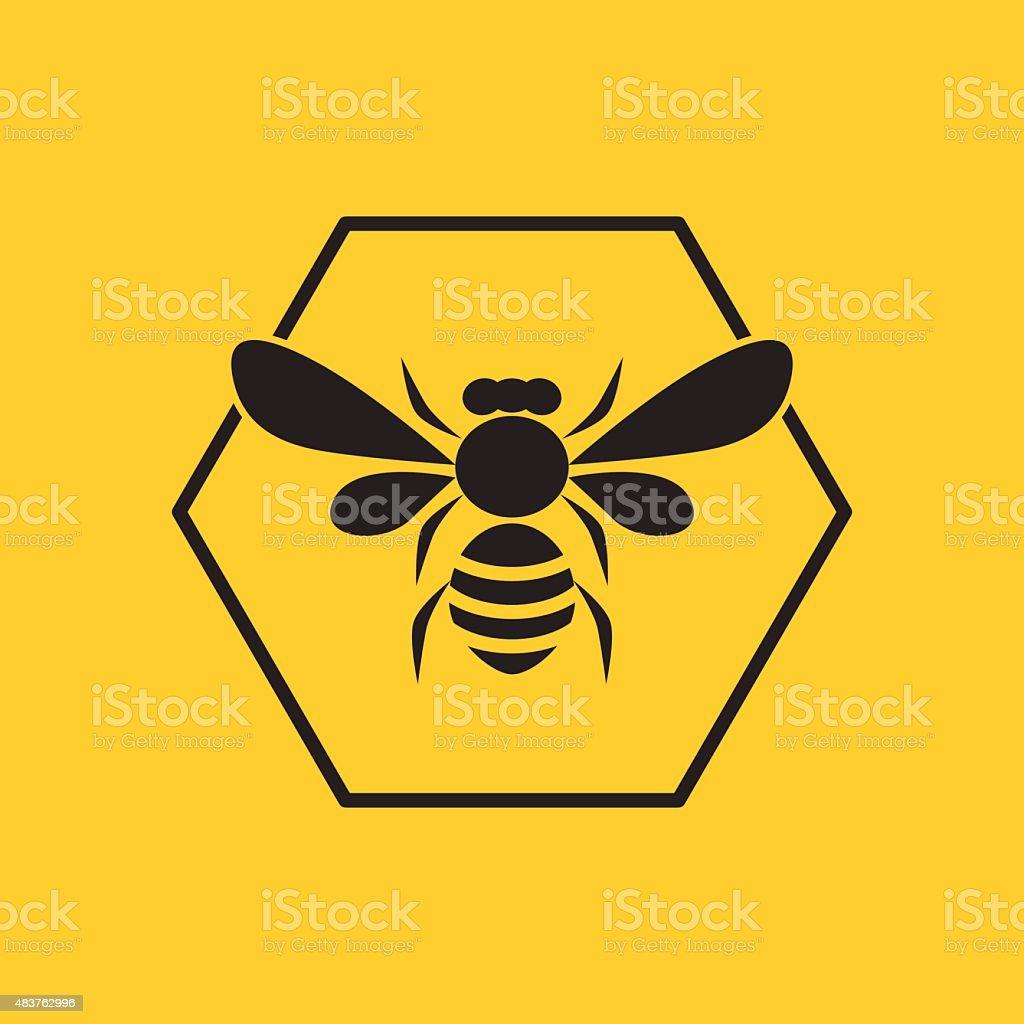 Bee logo vector art illustration