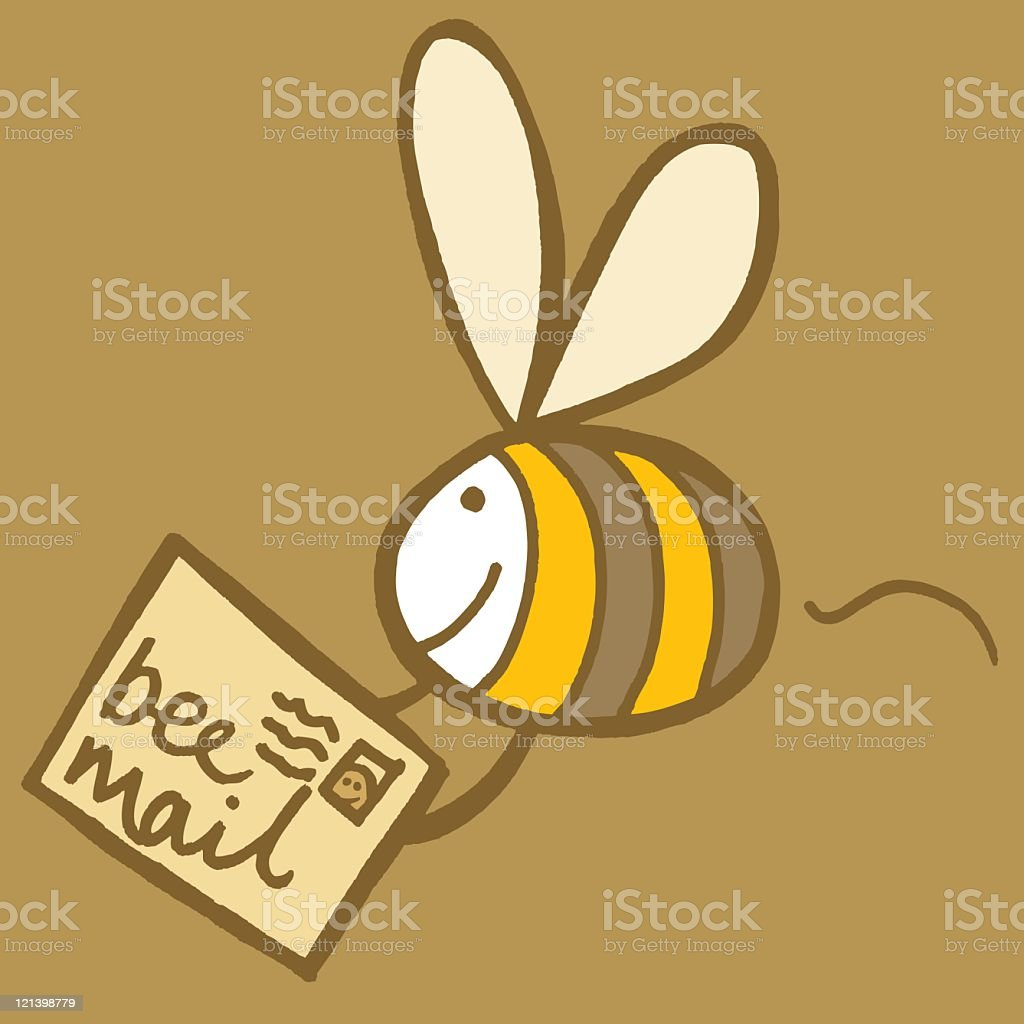 Bee Mail royalty-free stock vector art