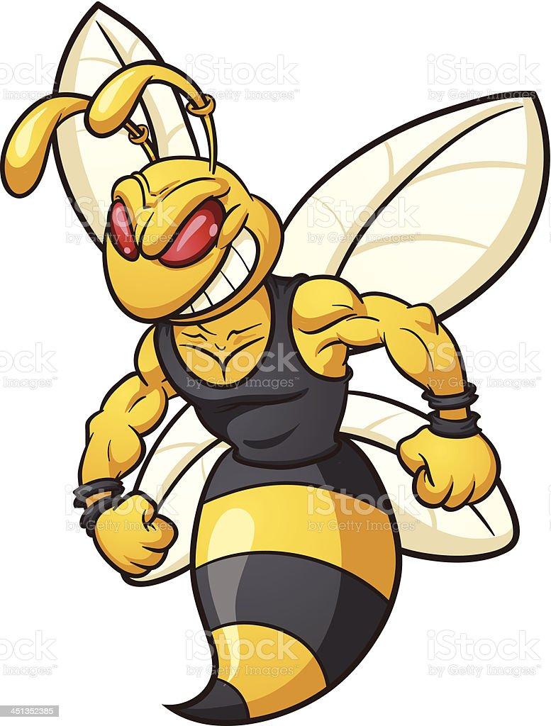 Bee mascot royalty-free stock vector art