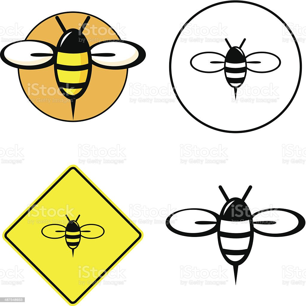 bee mixed vector set vector art illustration