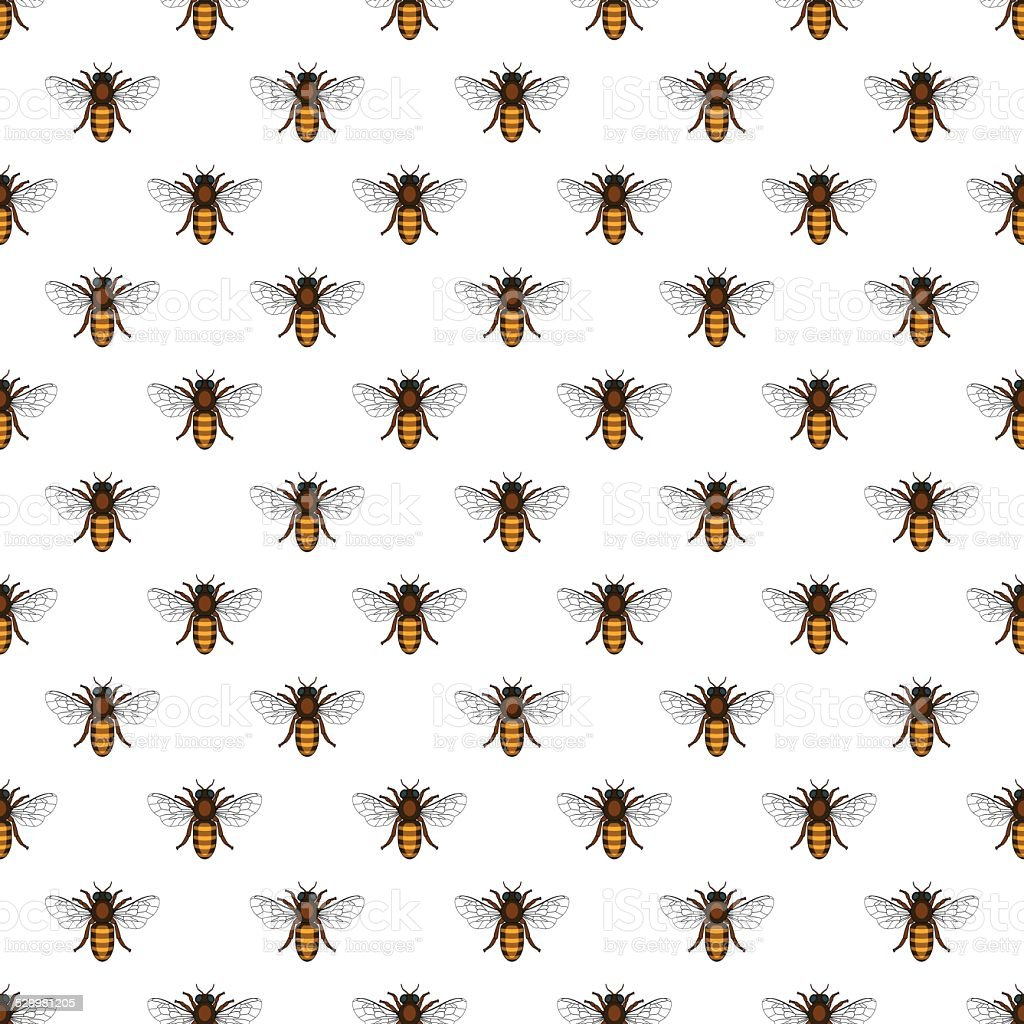 Bee pattern vector art illustration