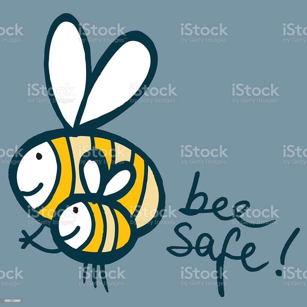 Bee Safe royalty-free stock vector art