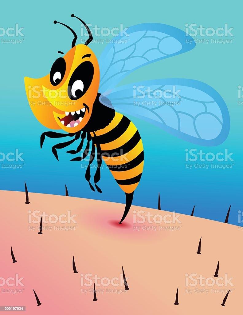 Bee Sting vector art illustration