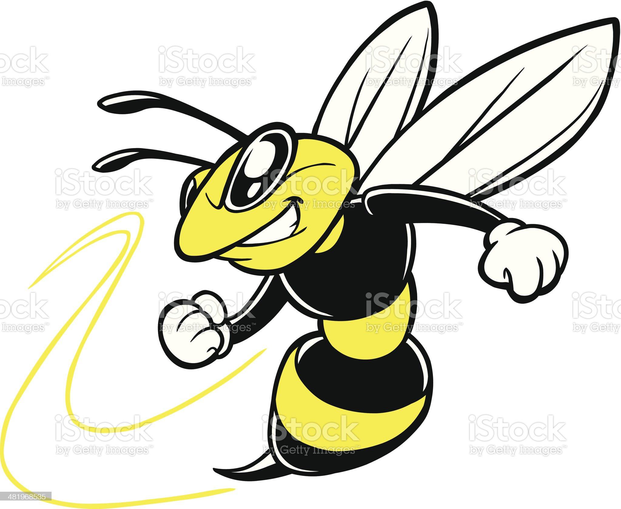 Bee Team Mascot royalty-free stock vector art