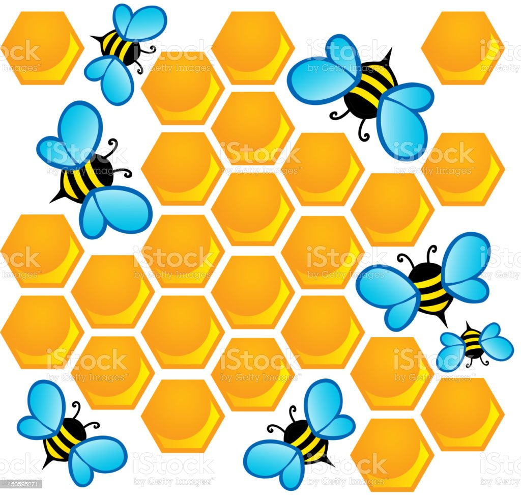 Bee theme image 1 royalty-free stock vector art
