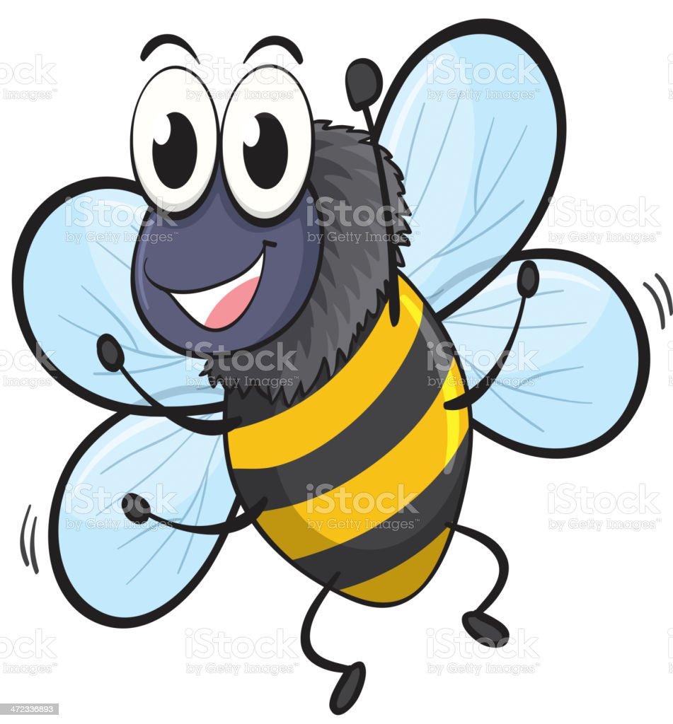 Bee royalty-free stock vector art