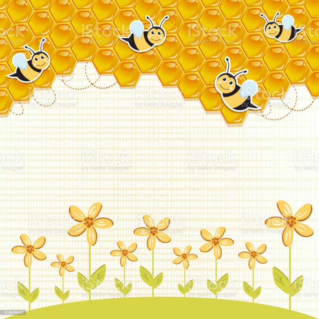 bee1 vector art illustration