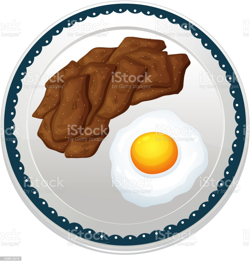 Beef and egg royalty-free stock vector art